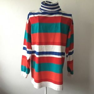 Vintage striped turtleneck tunic